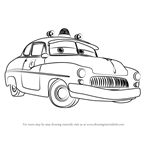 How to Draw Sheriff from Cars 3