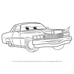 How to Draw Tex Dinoco from Cars 3