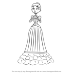 How to Draw Victoria Everglot from Corpse Bride