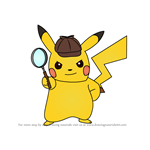 How to Draw Detective Pikachu from Detective Pikachu