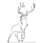 How to Draw The Elk from Fantasia