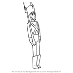 How to Draw Tin Soldier from Fantasia