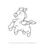 How to Draw Young Pegasus from Fantasia