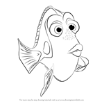 How to Draw Dory from Finding Dory