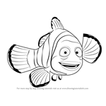 How to Draw Marlin from Finding Nemo