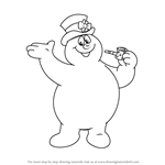 How to Draw Frosty from Frosty the Snowman
