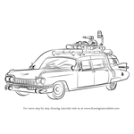 How to Draw The Ghostbusters Car