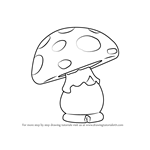 How to Draw Shroom from Gnomeo & Juliet