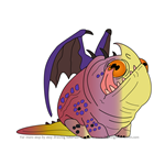How to Draw Rescued Hobgobbler from How To Train Your Dragon 3