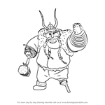How to Draw Gobber the Belch from How to Train Your Dragon 2
