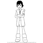 How to Draw Hiccup from How to Train Your Dragon