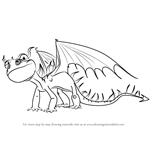 How to Draw Terrible Terror from How to Train Your Dragon