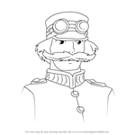 How to Draw King of Ingary from Howl's Moving Castle