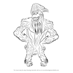 How to Draw Captain Gutt from Ice Age