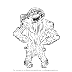 How to Draw Female Kong from Ice Age