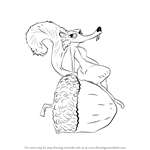 How to Draw Scratte from Ice Age