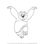How to Draw Po Giant Panda from Kung Fu Panda
