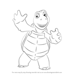 How to Draw Verne from Over the Hedge
