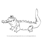 How to Draw The Crocodile from Peter Pan