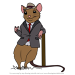 How to Draw Johnny Town-Mouse from Peter Rabbit