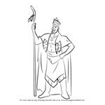 How to Draw Chief Powhatan from Pocahontas