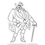 How to Draw Governor Ratcliffe from Pocahontas