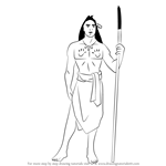 How to Draw Kocoum from Pocahontas