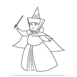 How to Draw Merryweather from Sleeping Beauty