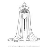 How to Draw The Evil Queen from Snow White and the Seven Dwarfs