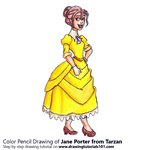 How to Draw Jane Porter from Tarzan