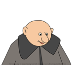 How to Draw Uncle Fester from The Addams Family