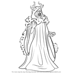 How to Draw Horned King from The Black Cauldron