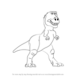 How to Draw Ramsey from The Good Dinosaur