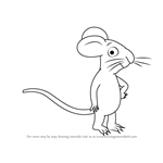 How to Draw Mouse from The Gruffalo
