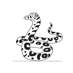 How to Draw Snake from The Gruffalo