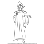 How to Draw Claude Frollo from The Hunchback of Notre Dame