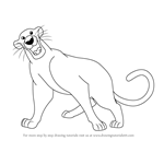 How to Draw Bagheera from The Jungle Book