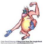 How to Draw King Louie from The Jungle Book