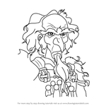 How to Draw King Haggard from The Last Unicorn