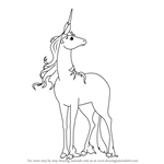 How to Draw Unicorn from The Last Unicorn