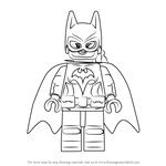 How to Draw Batgirl from The Lego Batman Movie