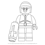 How to Draw Good Cop from The Lego Movie