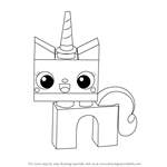 How to Draw Princess Unikitty from The LEGO Movie