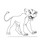 How to Draw Zira from The Lion King 2 - Simba's Pride