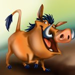 How to Draw Pumba from The Lion King