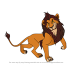 How to Draw Scar from The Lion King