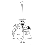 How to Draw Mayor of Halloween Town from The Nightmare Before Christmas