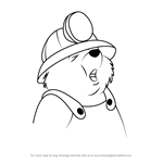 How to Draw Digger from The Rescuers