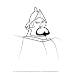 How to Draw Hernán Cortés from The Road to El Dorado