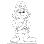 How to Draw Gutsy Smurf from The Smurfs